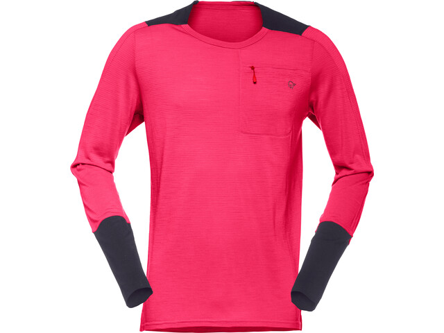 Norrøna Skibotn Wool Equaliser Longsleeve Shirt Men jester red